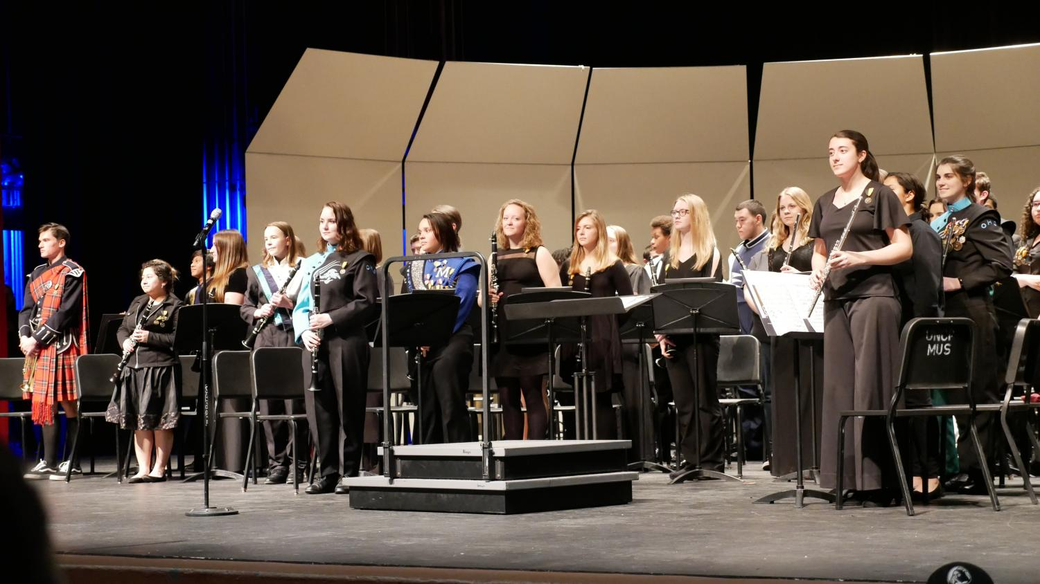 Students perform at the concert.