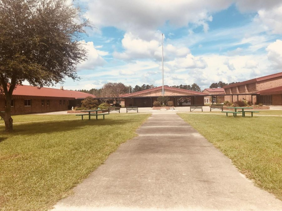Beautiful view of West Brunswick High School.
