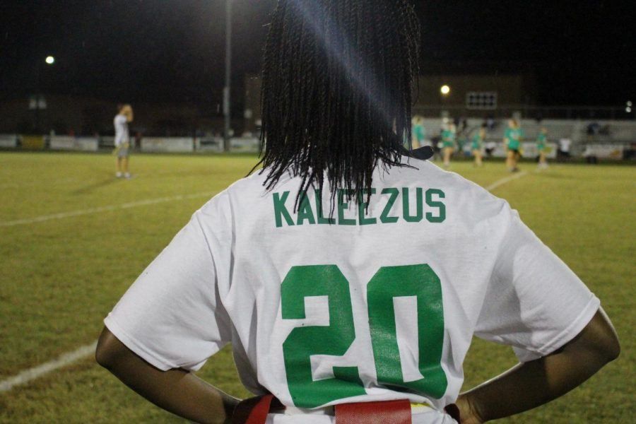 Kaliyah Matthews stands on the sideline following her defensive stop