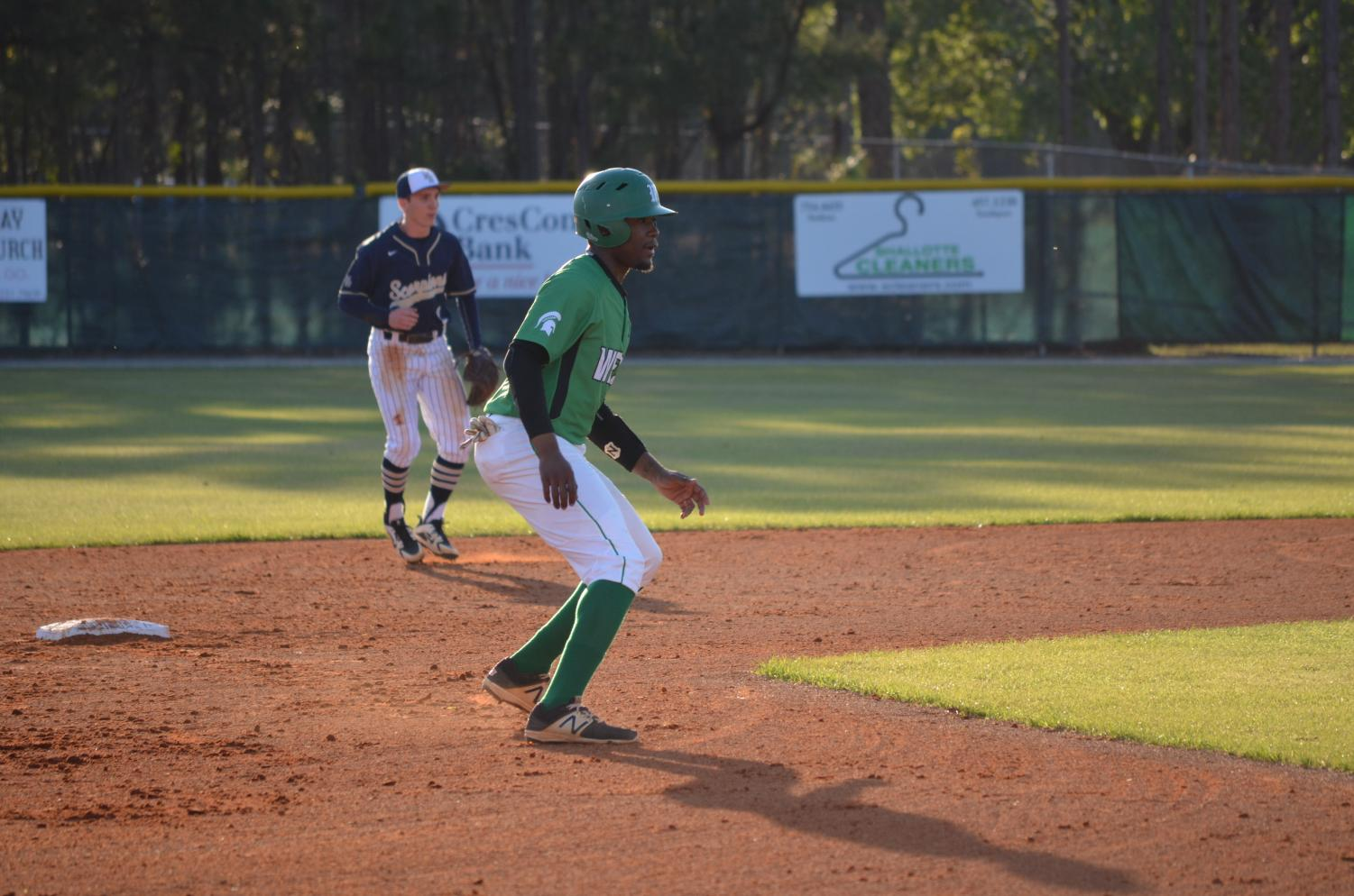 Dylan Jefferies attempts to steal a base.