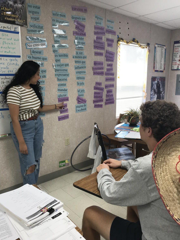Teaching students Spanish vocabulary
