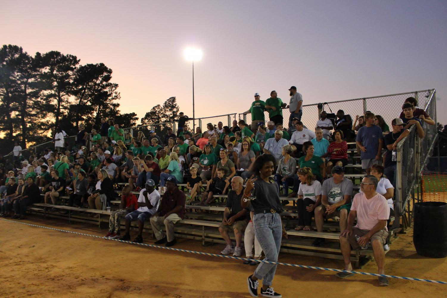 The+stands+on+the+Trojan+side+are+packed+as+the+game+reaches+halftime.