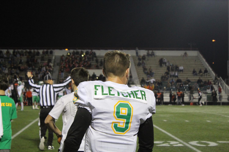 Quarterback Jay Fletcher before halftime.