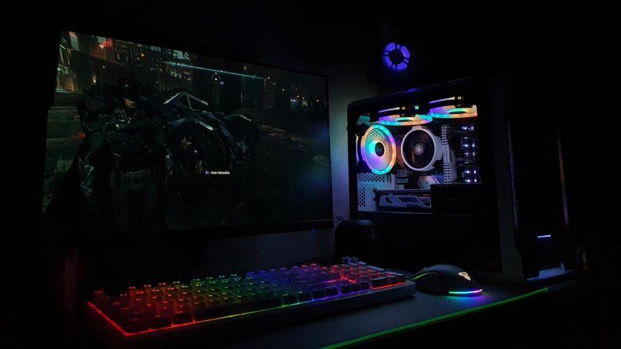 A Gaming PC setup.