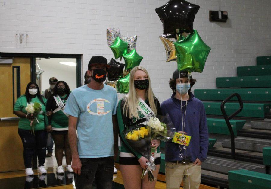 Senior cheerleader Jaden Keith on senior night.