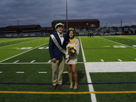 Wayde Sibley (King) and Ria Sanchez (Queen.)