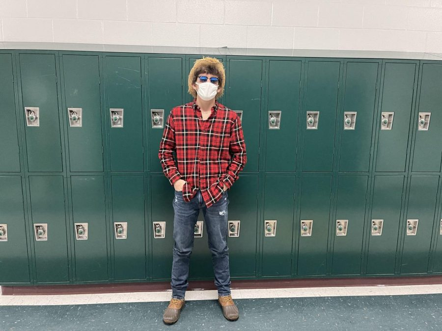 Senior Cole Hamilton dresses up as a cowboy for spirit week.